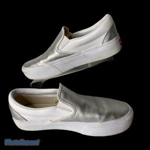 Vans Classic Slip On Loafer M 8.5 / W 10 Silver